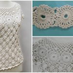 Crochet Elegant White Blouse