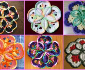 Crochet Potholder Flower