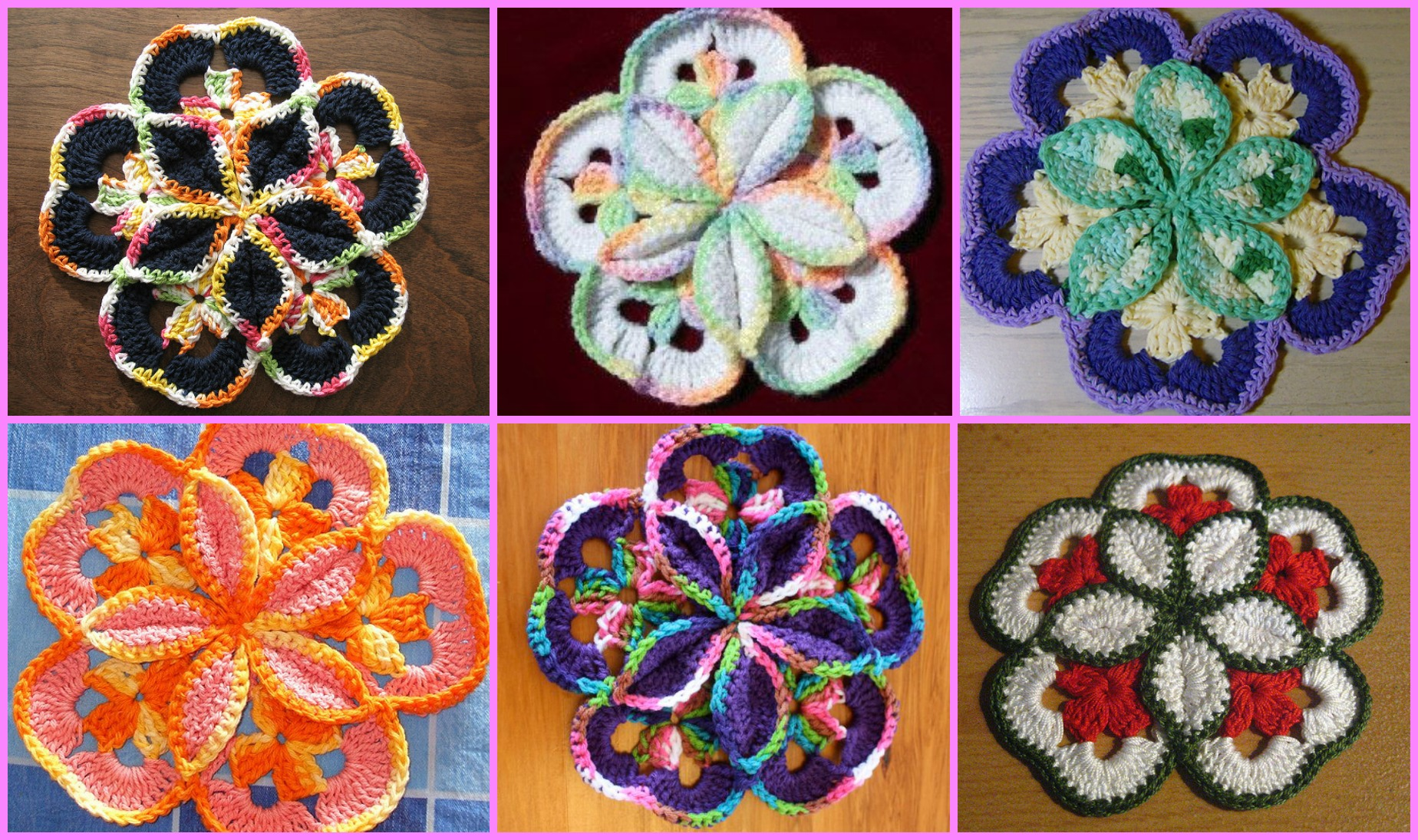 Crochet Potholder Flower
