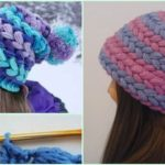 Puff Stitched Braid Hat