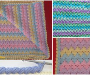 Spike Stitch Blanket With Pattern and Diagrams