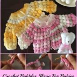Crochet Bobbles Shrug For Babies