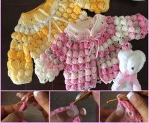 Crochet Bobbles Shrug For Babies