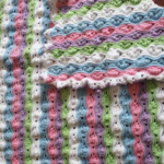 Crochet Ripple Puff Stitch Baby Blanket