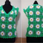 Crochet Daisy Blouse