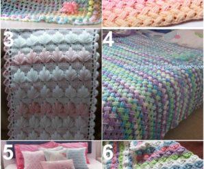 Crochet 6 Most beautiful Blankets