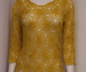 Crochet Blouse With pretty flower