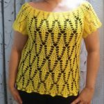 Crochet Yellow Blouse with Cute Stitches