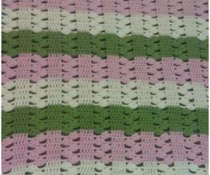 Crochet Lacy Baby Blanket