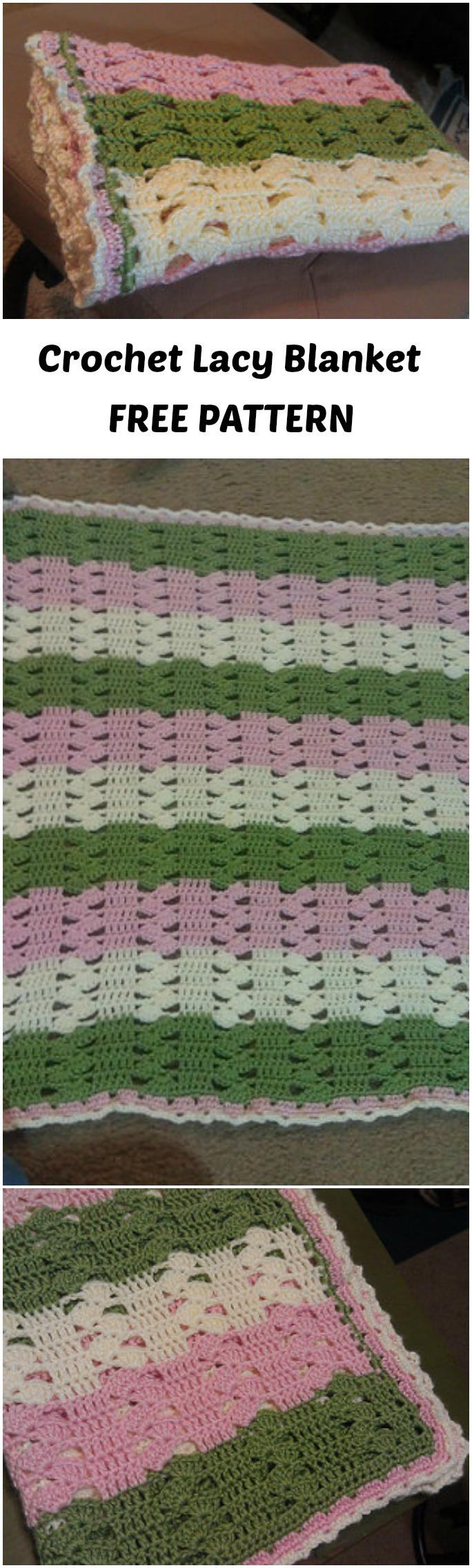 Crochet Lacy Baby Blanket - Pretty Ideas