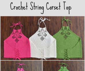 Crochet String Corset Top