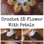 Crochet 3D Flower With Petals