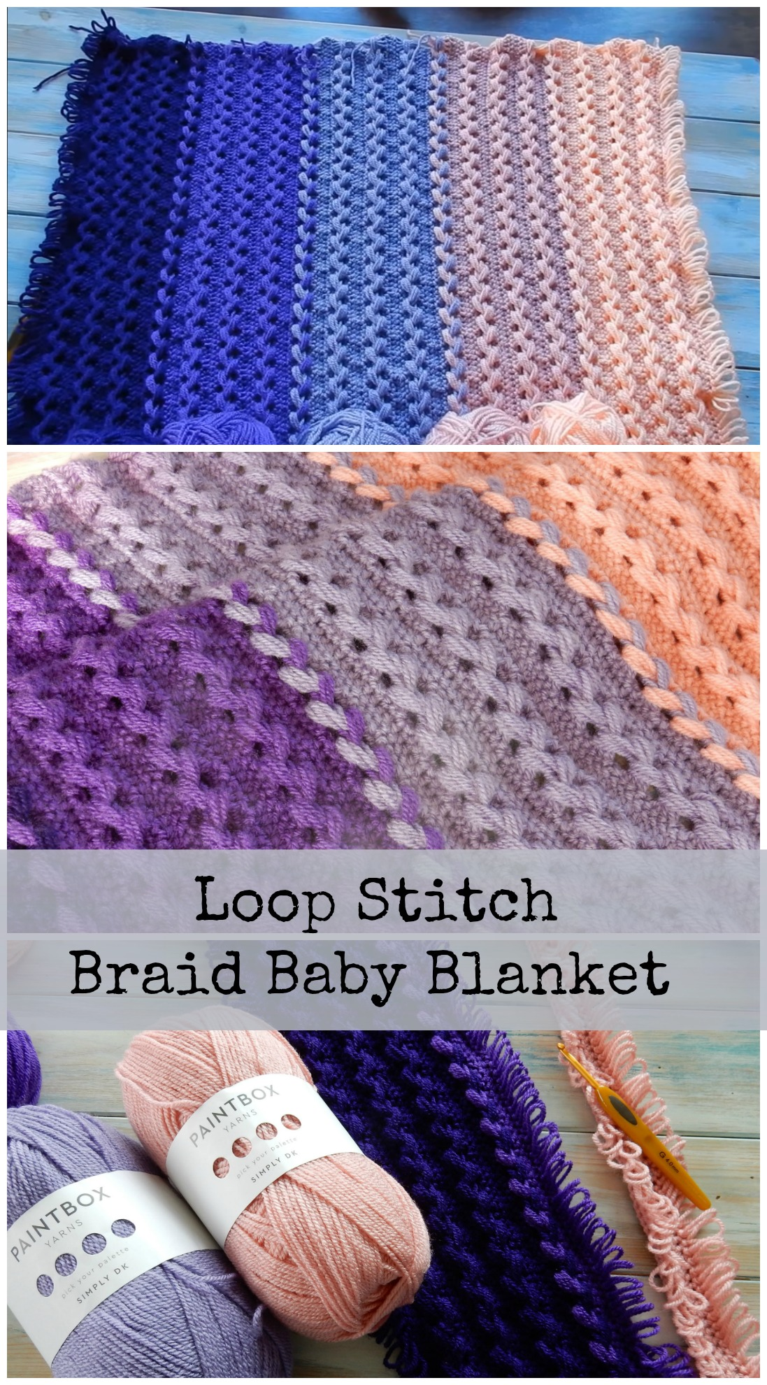Loop Stitch Braid Baby Blanket Pretty Ideas