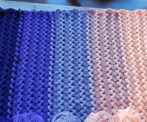 Loop Stitch Braid Baby Blanket