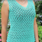 Crochet V-Neck Blouse