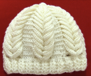 Crochet Hat With Spikes of Wheat