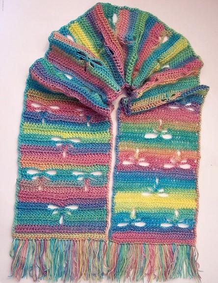 Crochet Dragonfly Scarf Pretty Ideas