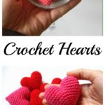 Crochet Small Cute Hearts