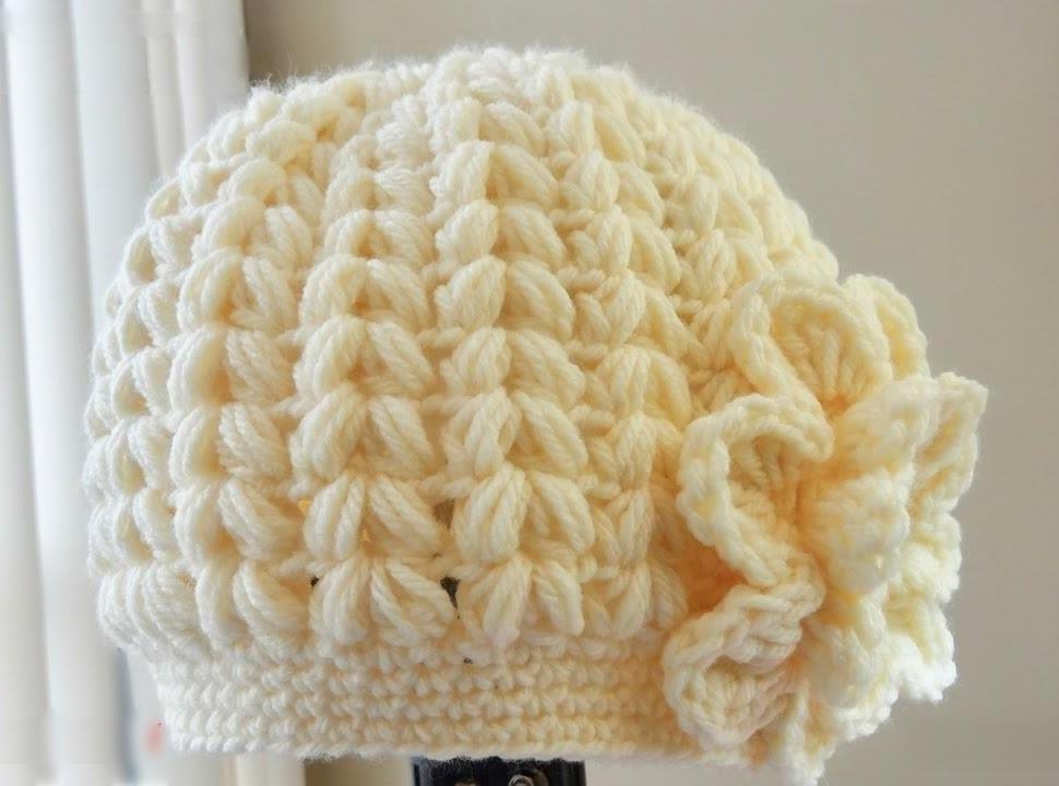 ba13a51e78f Crochet Puff Stitch Hat - Pretty Ideas