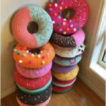 Crochet Sweet Donut Pillow