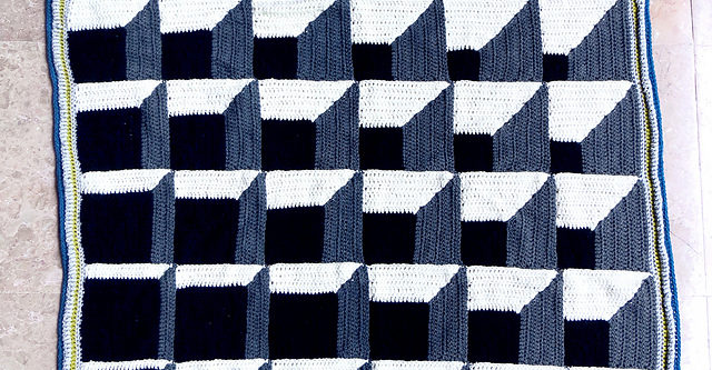Crochet Magical Optical Illusion Blanket