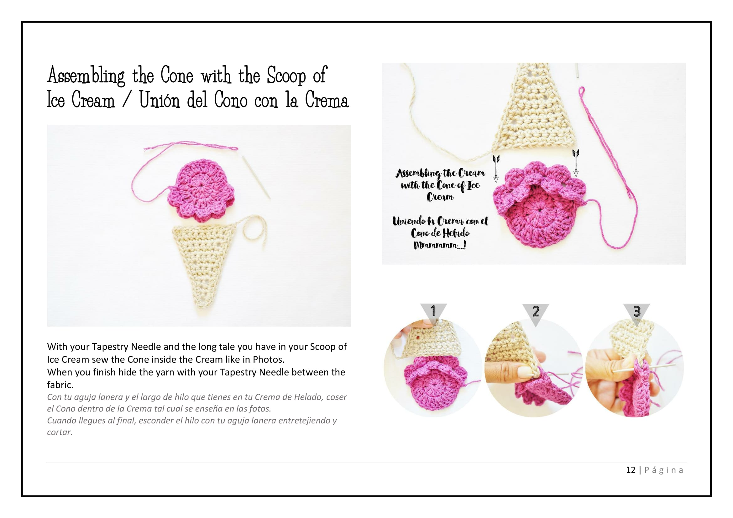 Ice Cream Decoration - Crochet Tutorial - Pretty Ideas