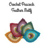 Crochet Peacock Feather Motif