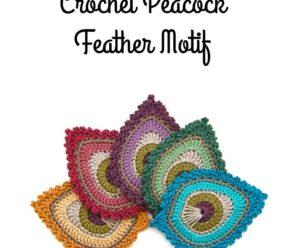 Crochet Peacock Feather Motif