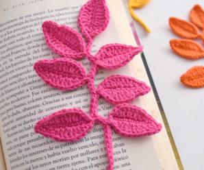 Crochet Beautiful Bookmark Leaves