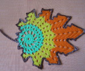 Crochet Colorful Leaves
