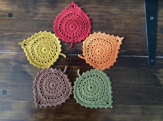 Crochet Leaf Coasters Pretty Ideas