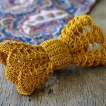 Big Lace Crochet Bow