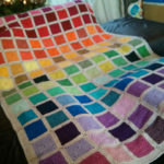 Squares rainbow Blanket