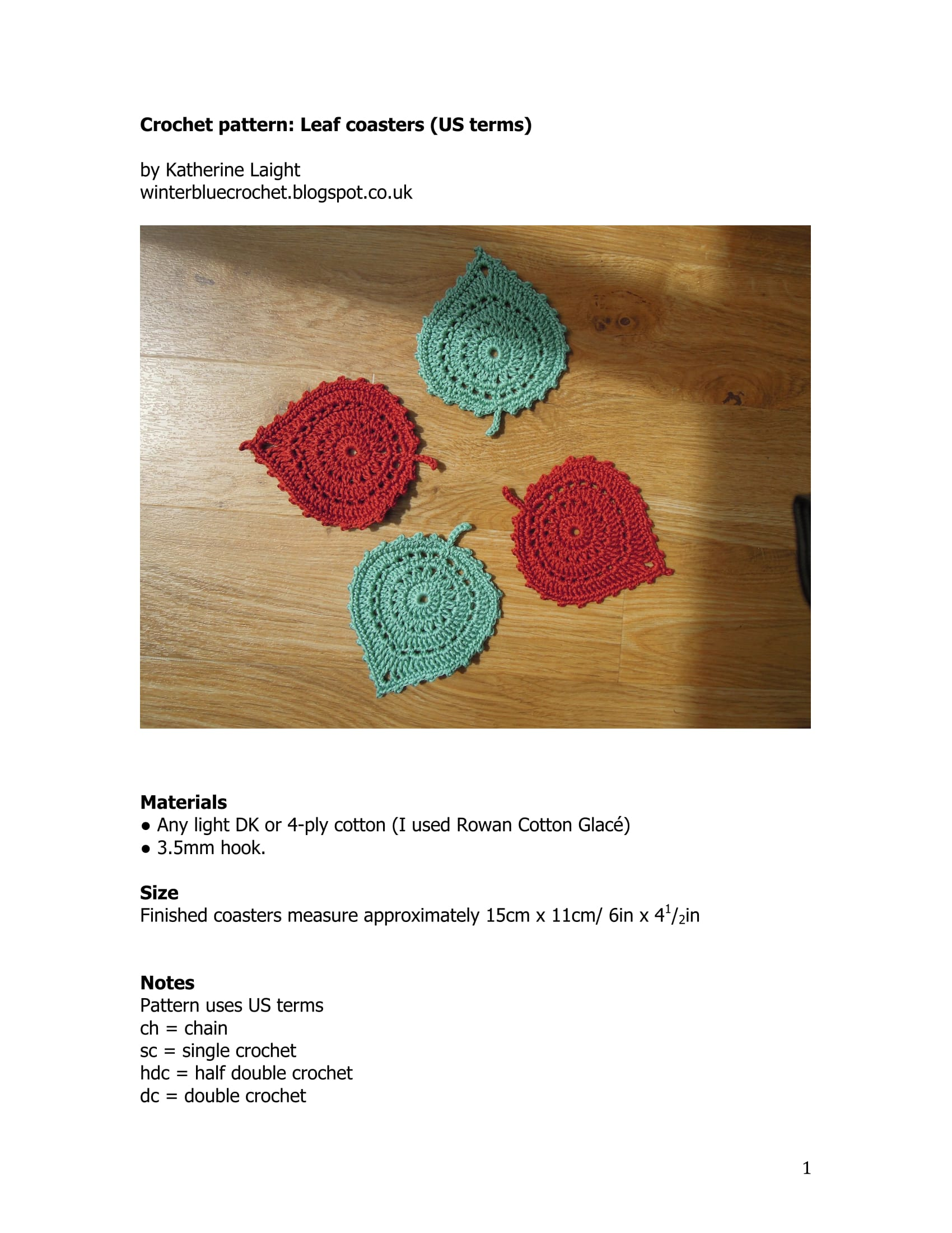 Crochet leaf coasters follow us on pinterest ccuart Image collections