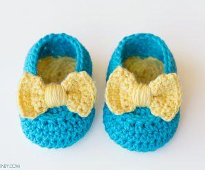 Lemon Drop Baby Booties