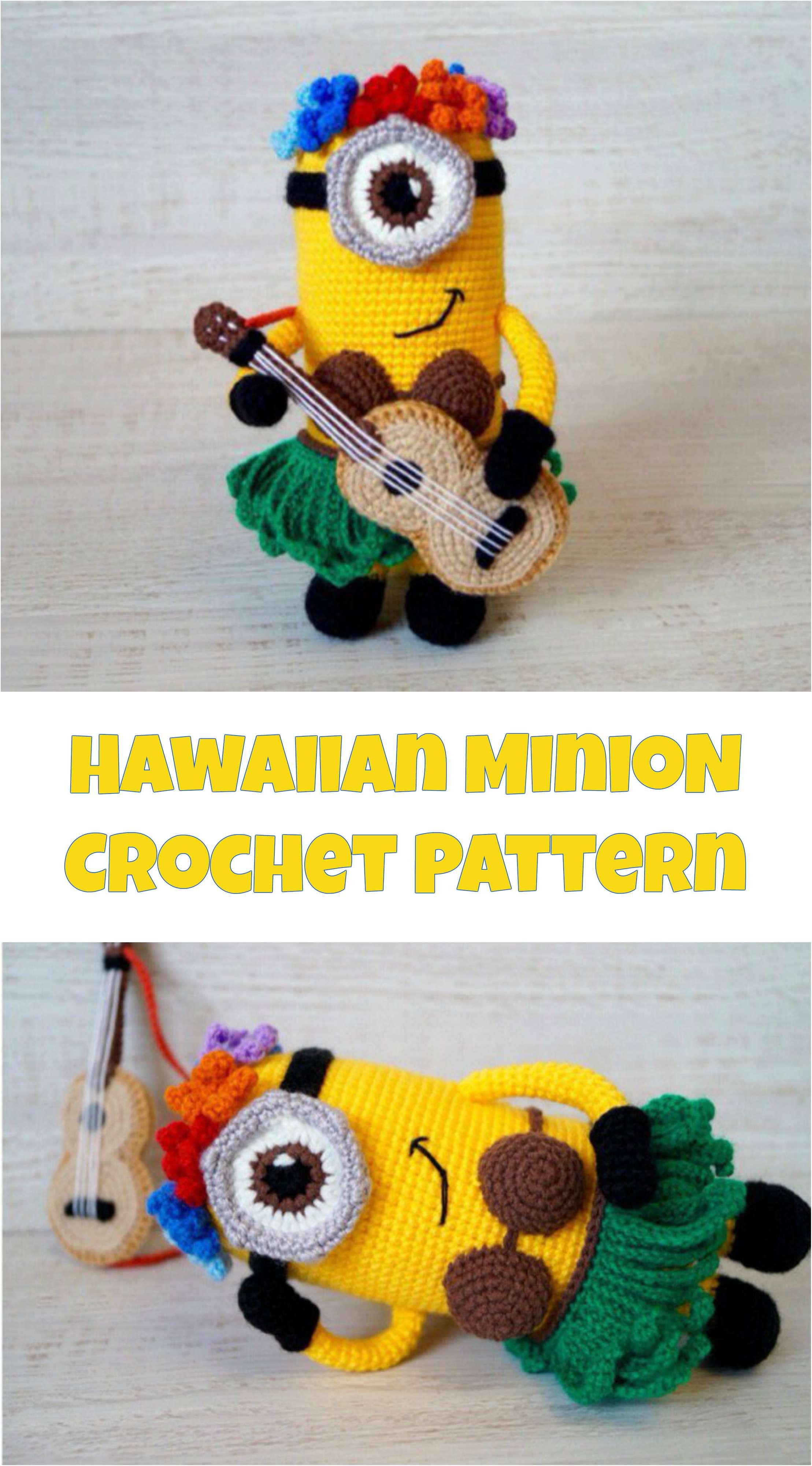 Free Hawaiian Minion crochet pattern - Amigurumi Today | 4000x2217