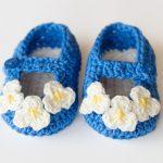 crochet vintage baby booties