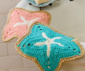 Crochet Starfish Potholders