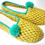 Crochet Puff Stitch Slippers