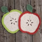 Crochet Apple Dishcloth