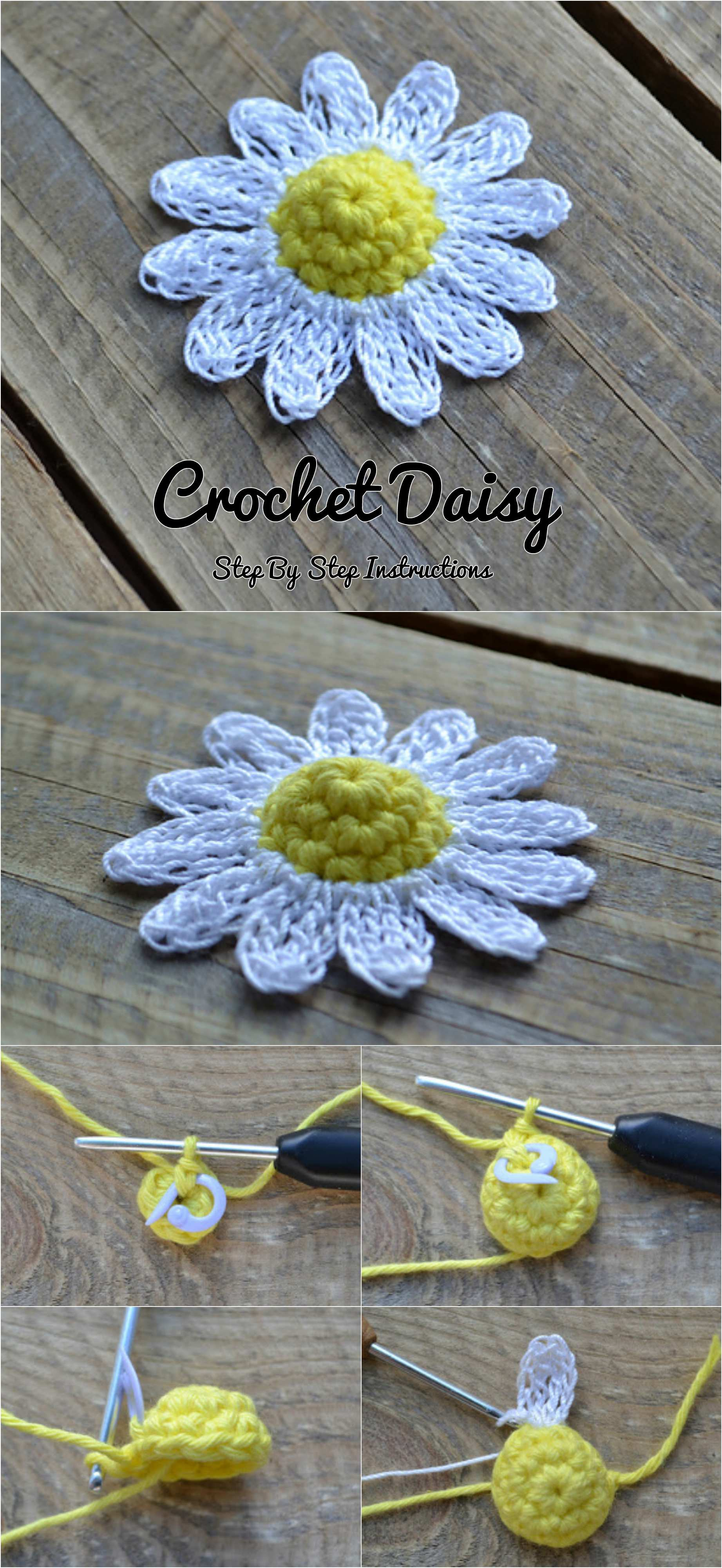 Crochet daisy flower pretty ideas in these instructions you will everything step by step that you need to know to crochet such as lovely daisy flower izmirmasajfo