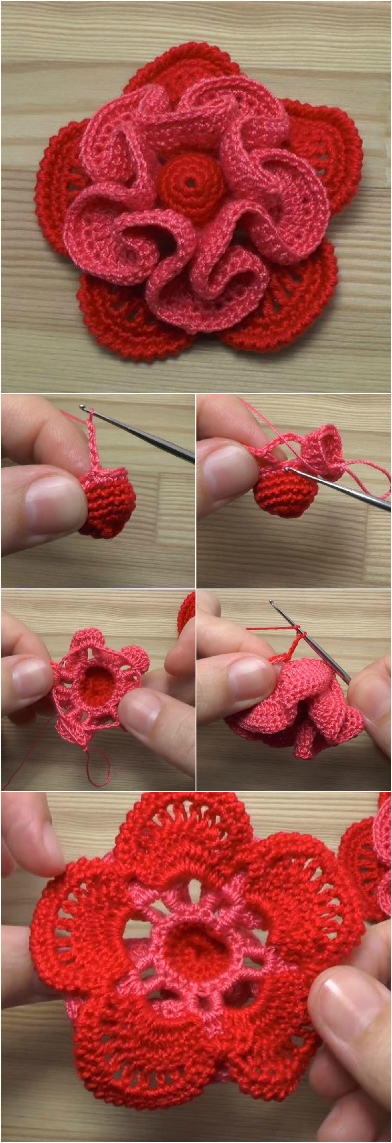 crochet decorative flower pretty ideas. Black Bedroom Furniture Sets. Home Design Ideas