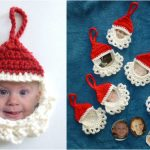 Crochet Funny Santa Frame
