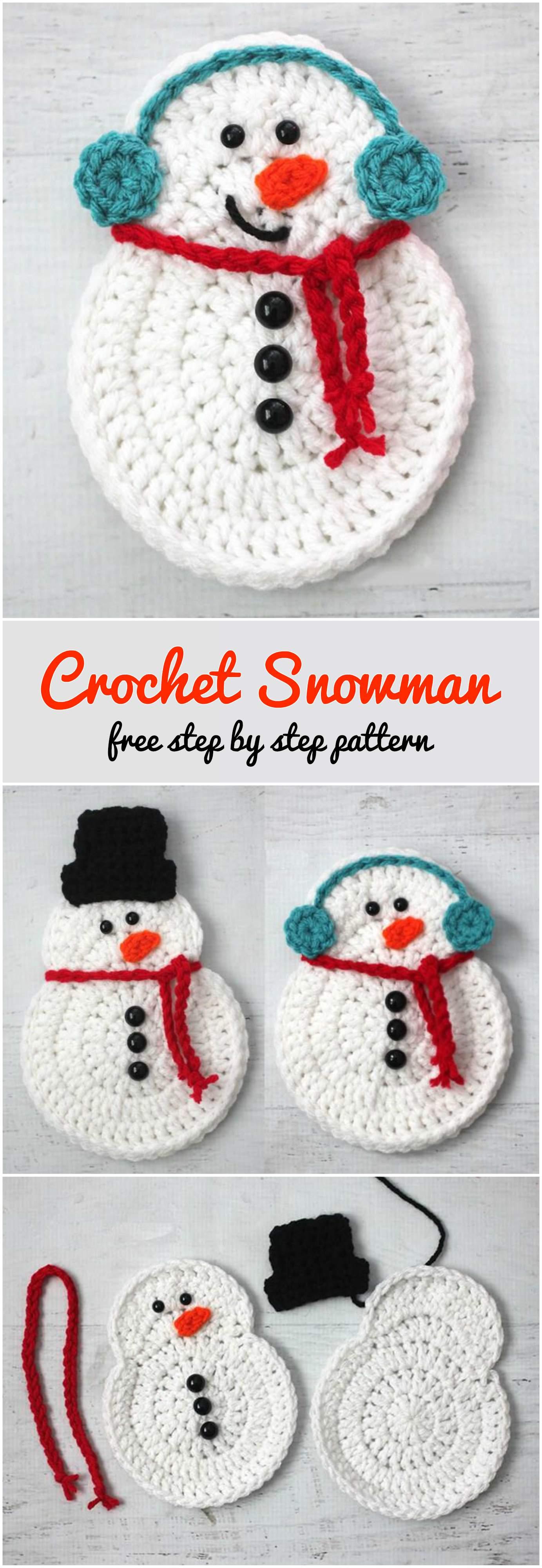 crochet snowman step by step pretty ideas
