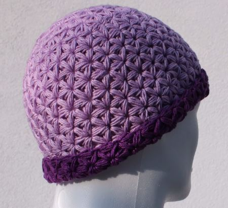Crochet Triangle Star Stitch Hat - Pretty Ideas 441c6a1f824