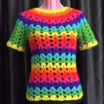 Crochet Rainbow Tunic