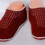 Crochet Dot Slippers