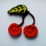Crochet Cherry Applique