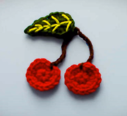 Crochet Cherry Applique Pretty Ideas