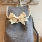 Crochet Backpack with Bow